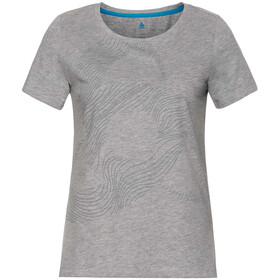 Odlo Core Bl Top Crew Neck S/S Women, grey melange/placed print FW18